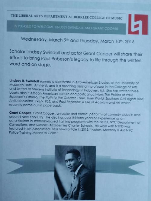 Berklee College flyer
